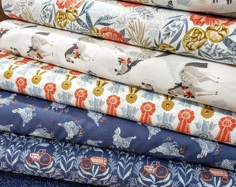 Fabric Bundle Dear Stella Poppy Prairie 1693 designed by Rae Ritchie - 8 prints - Pick your cut