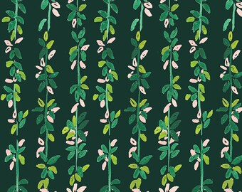 Dear Stella Orangerie, Lily Pad Vines  1857 designed by Caitlin Wallace Rowland - Sold in 1/2 yard increments