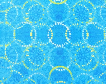 Free Spirit Pizzazz, Rings in Cerulean 025 designed by Sue Penn  - Sold in 1/2 yard increments