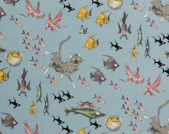 1/2  yard Ghastlie Lake Dive 8846A from Alexander Henry Fabrics