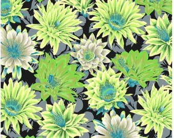 Cactus Flower in Contrast fabric designed by Philip Jacobs PJ096 for Kaffe Fassett  - Sold in 1/2 yard increments
