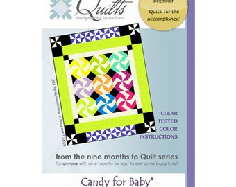 Candy for Baby Quilt Pattern from Bean Counter Quilts