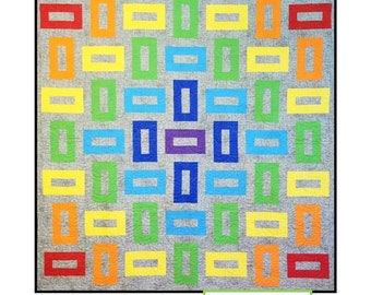 Shaded Box Quilt Pattern by Louanna Mary Quilt Designs
