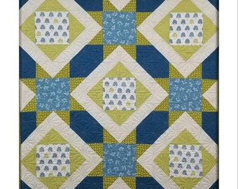 Stars Afloat Quilt Pattern by Louanna Mary Quilt Designs