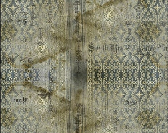 Free Spirit Abandoned Stained Damask 133 designed by Tim Holtz - Sold in 1/2 yard increments