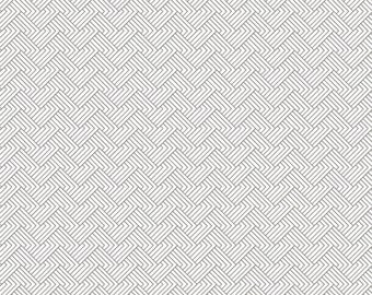 1/2 Yard Happy Thoughts 964 145  Gray designed by Sarah Maxwell for Studio 37 of Marcus Bros Fabrics
