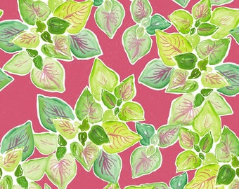 Dear Stella Orangerie, Leafy Garden  1858 designed by Caitlin Wallace Rowland - Sold in 1/2 yard increments