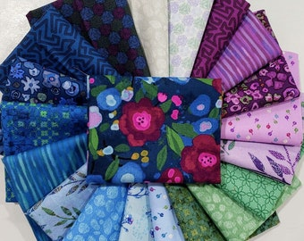 Fabric Bundle Las Flores  designed by Nancy Rink for Studio 37 of Marcus Bros Fabrics - 21 Prints - Pick your cut