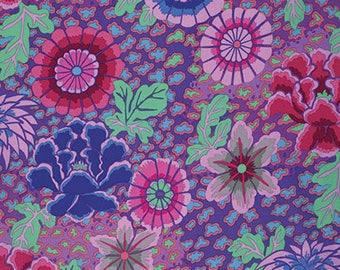 Dream Purple Kaffe Fassett fabric GP148 - Sold in 1/2 yard increments
