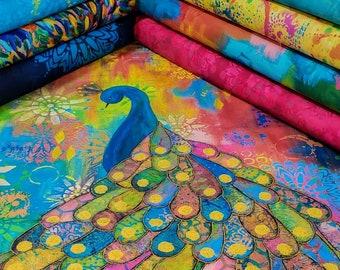 Free Spirit Pizzazz Fabric Bundle  designed by Sue Penn - 8 Prints plus Panel