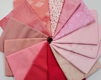 FQ Fabric Bundle of Pink - 14 prints