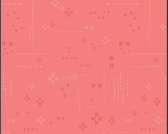 1/2 Yard Art Gallery Fabrics Decostitch in Coral Rose DSE 721