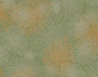 1/2 Yard Art Gallery Fabrics Floral Element in Dusty Olive FE 509