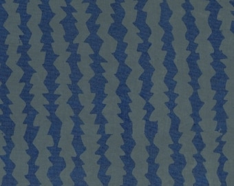 1/2 yard Parts Dept Batik Saw Blades Blue/Gray 8180-0121 designed by Victoria Findlay Wolfe for Studio 37 of Marcus Bros