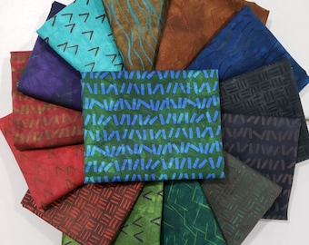 Fabric Bundle of River's Bend Grand Lake line designed by Janine Burke 14 prints - Pick your cut