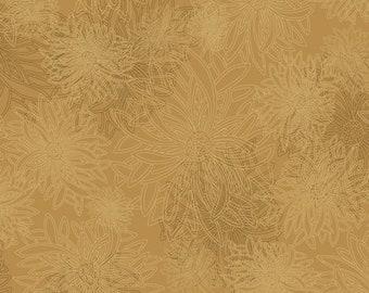 1/2 Yard Art Gallery Fabrics Floral Element in Honey Mustard FE 513