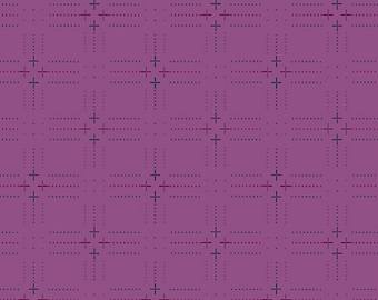 1/2 Yard Andover Entwine Plus P in Verbena designed by Giucy Giuce.  Woven Yarn Dye Dobby fabric
