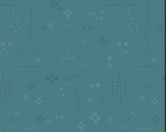 1/2 Yard Art Gallery Fabrics Decostitch in Teal Fog DSE 716