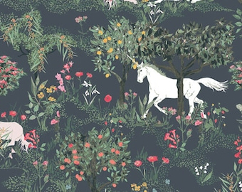 1/2 Yard of Picturesque Mystical Quest by Night 29458 from Art Gallery Fabrics designed by Katarina Roccella