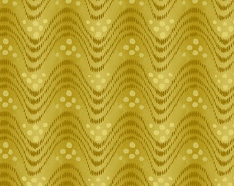 1/2 Yard Andover Collective Waves in Yellow 9440Y designed by Di Ford Hall