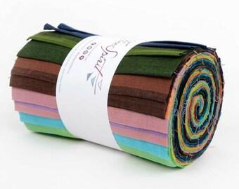 """Kaffe Fassett Woven Stripes 6"""" strip design roll - 20 pieces"""