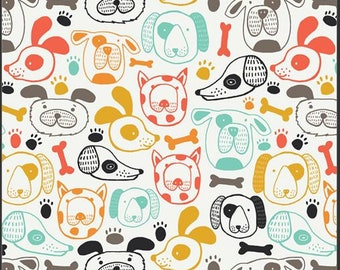 Oh Woof, Woof This Way 68680 from Art Gallery fabrics designed by Jessica Swift - Sold in 1/2 yard increments