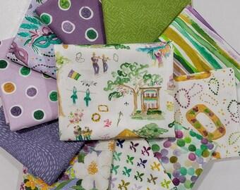 Fabric Bundle Dear Stella Mardi Gras designed by Caitlin Wallace Rowland - 11 Prints