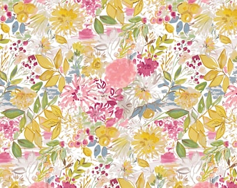 LAST 1/2 Yard Free Spirit Fabrics Adelaide Grove, Garden Grove in Ochre 306 designed by Dena Designs