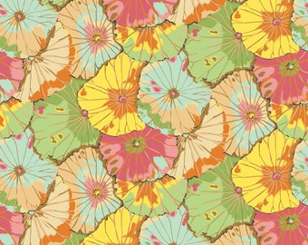 """Kaffe Fassett Lotus Leaf in Jade Extra Wide, wide back 108"""" fabric.   Pick your cut"""