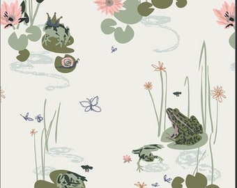 Lilliput, Bog Party 56710 from Art Gallery fabrics designed by Sharon Holland - Sold in 1/2 yard increments