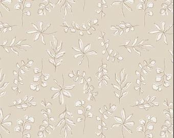 Art Gallery Soften the Volume, Sunbleached Leaves 11606 designed by AGF Studio - Sold in 1/2 Yard Increments