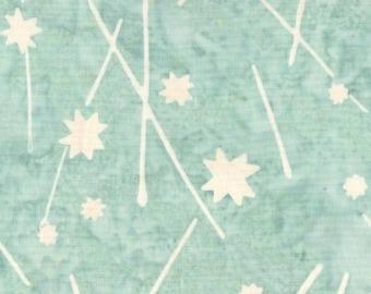 1/2 yard Parts Dept Batik Stars in Aqua 8199-0167 designed by Victoria Findlay Wolfe for Studio 37 of Marcus Bros
