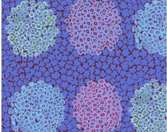Hydrangea in Blue fabric designed by Kaffe Fassett GP180  - Sold in 1/2 yard increments