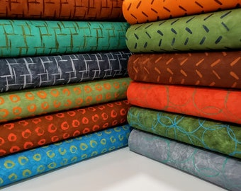 Fabric Bundle Rivers Bend  Modern Earth designed by Janine Burke - 12 Prints - Pick your cut