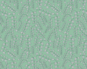 1/2 yard Marcus Bros Dance at Dusk, Trailing Vines in Green 850 151 designed by Sarah J