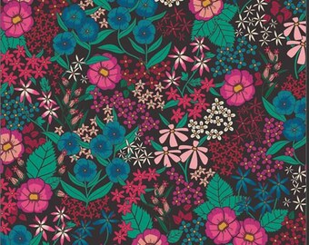 1/2 Yard Art Gallery Fabrics Flower Society, Perennial Soiree 99100 designed by AGF Studios