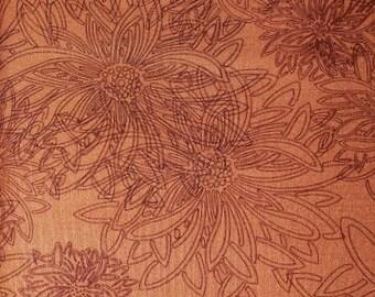 1/2 Yard Art Gallery Fabrics Floral Element in Russet Orange FE 503