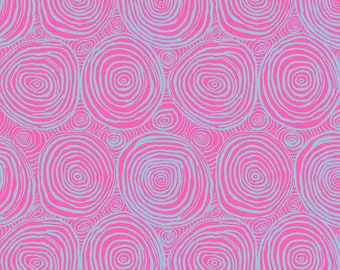 """Kaffe Fassett Onion Rings in Pink Extra Wide, wide back 108"""" fabric.   Pick your cut"""