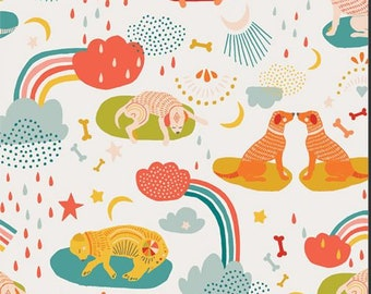 Oh Woof, Daydream DogDream 68687 from Art Gallery fabrics designed by Jessica Swift - Sold in 1/2 yard increments