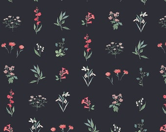 1/2 Yard of Picturesque Botanical Study in Dark 29457 from Art Gallery Fabrics designed by Katarina Roccella