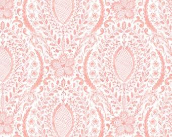 Free Spirit Fabrics Adelaide Grove Ballarat Medallion in Coral 308 designed by Dena Designs - Sold in 1/2 yard increments