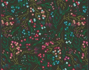 1/2 Yard Art Gallery Fabrics Flower Society, Windswept in Nocturnal 99105 designed by AGF Studios