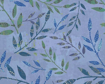 1/2 yard Las Flores 982 Blue designed by Nancy Rink for Studio 37 of Marcus Bros Fabrics