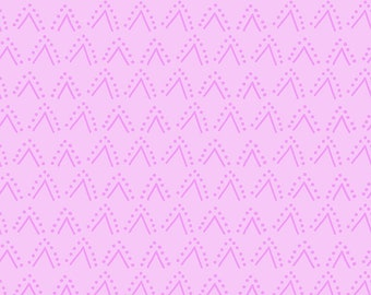 Clothworks Thistle Patch Double V in Orchid 3067-121 designed by Teresa Magnuson - Sold in 1/2 yard increments