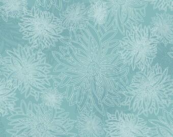 1/2 Yard Art Gallery Fabrics Floral Element in Aqua Haze FE 508