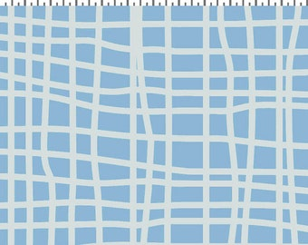 Clothworks Blue Goose, Grids in Light Blue 3103 29 designed by Meags & Me - Sold in 1/2 yard increments