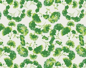 1/2 yard Art Gallery Indigo and Asters, Foliage Escape Vert 24801 designed by Bari J