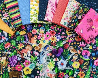 Fabric Bundle of Dear Stella Tree of Life designed by August Wren 11 Prints plus Panel - Pick your cut