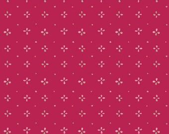1/2 Yard Art Gallery Fabrics Aquarelle Watermarks Cerise 66754 designed by Katarina Roccella