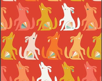 Oh Woof, Happy Howl 68684 from Art Gallery fabrics designed by Jessica Swift - Sold in 1/2 yard increments
